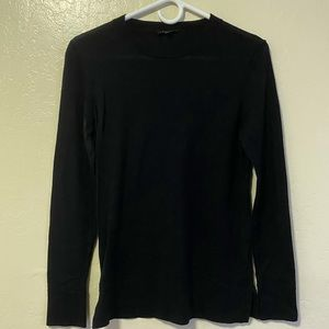Classic theory black woven sweater